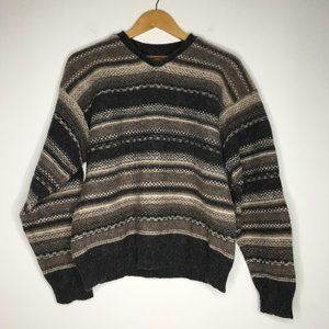 REI Mens Sz Large Wool V-Neck Pullover Sweater